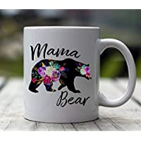 Mama Bear Mug | Mamma Bear | Mom Coffee Mug | Mug for Mom | 11oz or 15 oz Coffee Mug | Mom Life | Baby Shower Gift | Pregnancy Reveal Mug