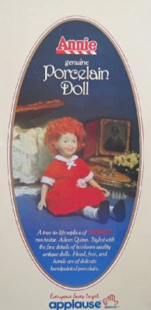 Applause Little Orphan Annie Porcelain Doll - Aileen Quinn Hand Painted Replica (1982 Knickerbocker) by Annie