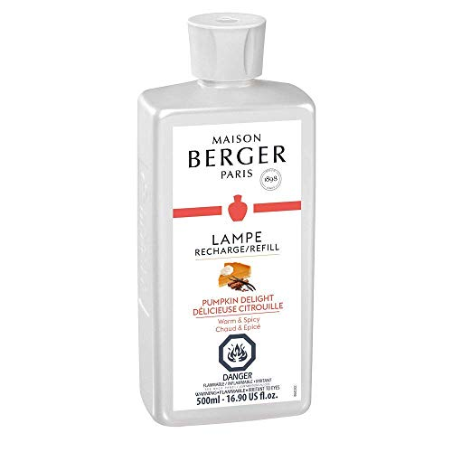 - Pumpkin Delight | Lampe Berger Fragrance Refill for Home Fragrance Oil Diffuser | Purifying and perfuming Your Home | 16.9 Fluid Ounces - 500 milliliters | Made in France