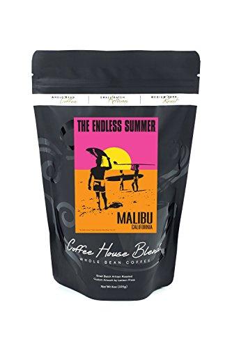 Malibu, California - The Endless Summer - Original Movie Poster (8oz Whole Bean Small Batch Artisan Coffee - Bold & Strong Medium Dark Roast w/ Artwork) by Lantern Press