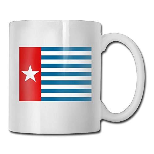 - PIHJE mugs West Papua National Flag Mugs Fashion Ceramic Coffee Tea Cups Double-side Printing 11oz