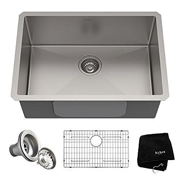 Kraus KHU100-26 Kitchen Sink 26 Inch Stainless Steel