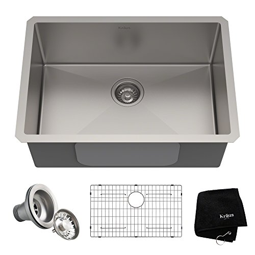 (Kraus KHU100-26 Kitchen Sink, 26 Inch, Stainless Steel)