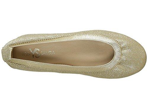 Yosi Samra Girls' Miss Samara Ballet Flat, Gold/Gold, 9 M US Toddler - Image 1