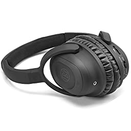 Juboury Solace Battery Active Noise Canceling Over-ear Headsets for IOS, Samsung Andorid Phones,Tablets,Portable Music Players,Laptop, PC, In-flight Entertainment Devices with Carrying Case