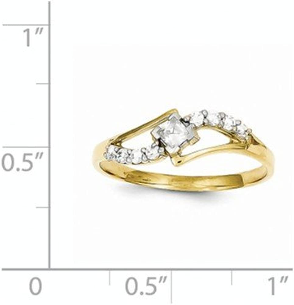 10k Cubic Zirconia Ring