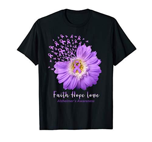 (Faith Hope Love Tshirt Alzheimer's Awareness Gifts)