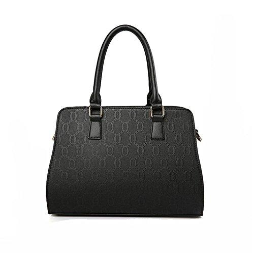 Teruixing de sac main porté femmes de de pour main Noir Lot à à Pochette sacs Sac à PU Epaule 4 sac cuir sac femme bandoulière rxrwT7qHa