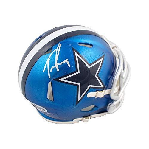 (Tony Romo Autographed Dallas Cowboys Blaze Mini Football Helmet - BAS COA)