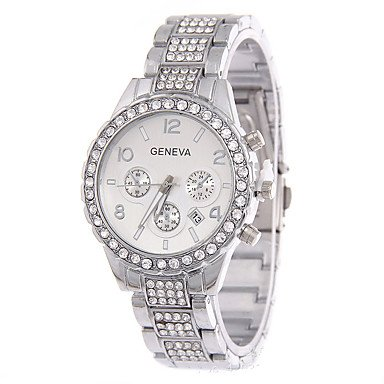 Bellos Relojes, las mujeres de diamantes de imitación de cuarzo reloj de imitación de diamante