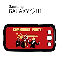 Communist Party Banksy Mobile Cell Phone Case Samsung Galaxy S3 Black