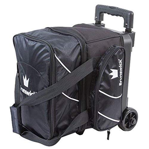 Brunswick Edge Single Roller Bowling Bag, Black