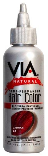 Via Natural Semi Perm Color # 82 Crimson 4 oz -