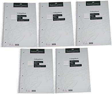 80 Blatt // 90g//m/² Collegeblock DIN A4 Made in Germany kariert feines holzfreies Schreibpapier FSC-Mix zertifiziert Faber Castell 10419 Rand beidseitig 1 St/ück