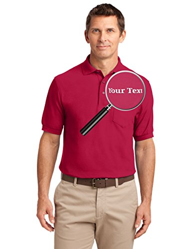 Custom Embroidered Mens Polo Shirts with Pockets - Embroidery Collared Pocket Shirt