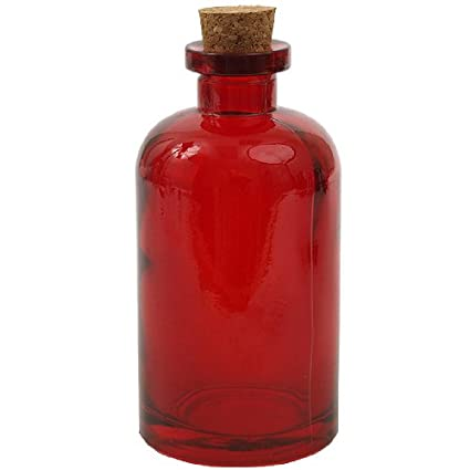 8 oz Apothecary Glass Bottle - Red