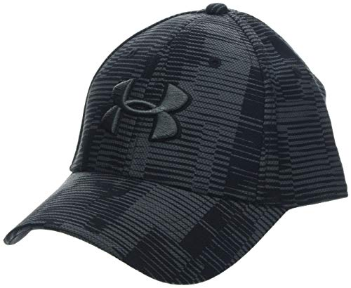 - Under Armour Men's Printed Blitzing 3.0 Stretch Fit Cap, Black//Pitch Gray, Large/X-Large