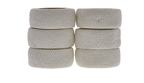 Andover Flexible Sports Tape Wrap (6 Pack), White, 1