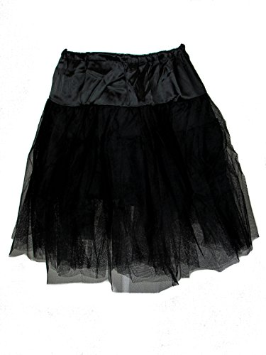 Plus Size Black Gothic Rockabilly Retro 50's Organza Petticoat (3X-4X)