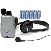 Williams Sound PockeTalker Ultra Duo Personal Sound Amplifier - Includes Headphone, Earphone and 20 AAA Batteries