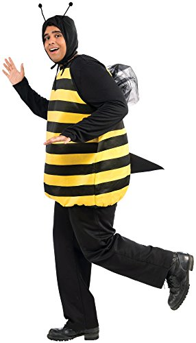Forum Novelties Women's Plus-Size Bumble Bee Plus Size Costume, Black/Yellow, Plus (Male Costume Halloween)