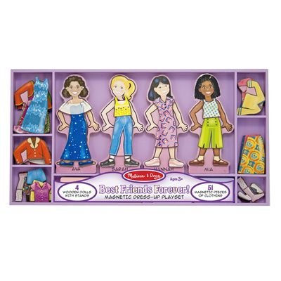 Melissa Doug Best Friends Forever Deluxe Magnetic Dress - Up by Melissa and Doug