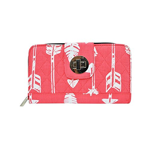 Arrow Print NGIL Quilted Twist Lock Wallet ()