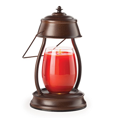 Candle Warmers Etc. Hurricane Candle Warmer Lantern, Rustic Brown