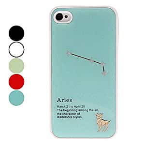 Frosted Aires Constellation Pattern Hard Case for iPhone 4/4S (Assorted Colors) , Blue