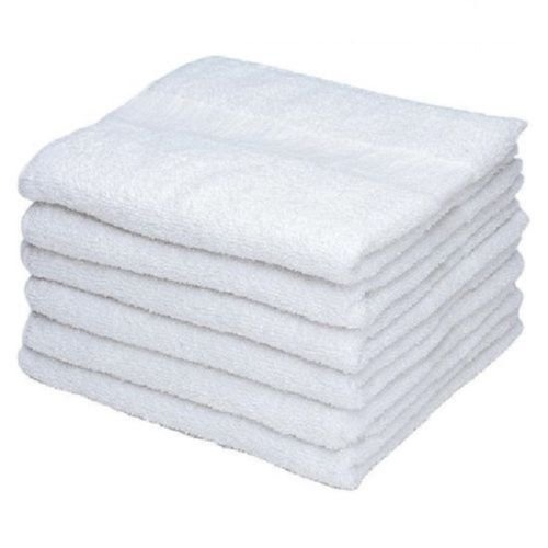 240Pcs White Cotton Washcloths Durable Towels Hotel Facial Barber Salon Gym Kitchen Hand Towels 12''X12'' by Hand Towels