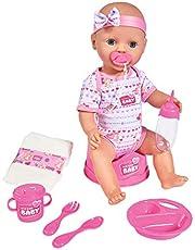 Simba 105030060 - New Born Baby Drink-plas functie, 43cm,roze, vanaf 3 jaar