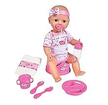 Simba 105039005 muñeca - muñecas (Cualquier género, Multi, Doll's Dress, Feeding Bottle, Placa, Potty, Spoon)