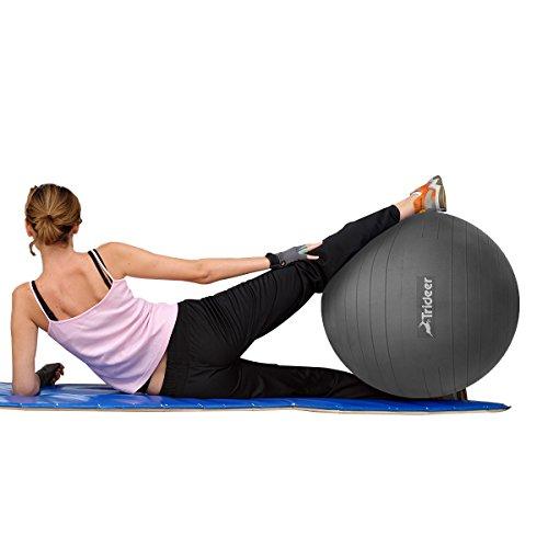 Trideer 2000lbs Anti Burst Fitness Ball Exercise Ball Body
