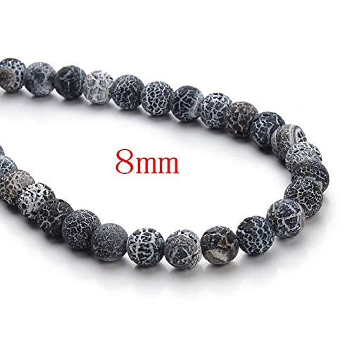 Solution Weathering (SOLUTION Natural Weathering Black Onyx Stone 8/10/12mm Round Loose Spacer Beads for Necklace Bracelet Jewelry Making 40cm/Strand F3160)