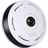 Veoker IP Camera Wireless Wifi 360 Degree Panoramic 2.0 Megapixel 1080P 2.4GHZ Security Camera Super Wide Angle Support IR Night Motion Detection Keep Your Pet & Home Safe
