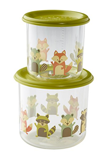 Sugarbooger Good Lunch Snack Containers Large Set-of-Two, What Did The Fox Eat (Sugarbooger Snack Containers)