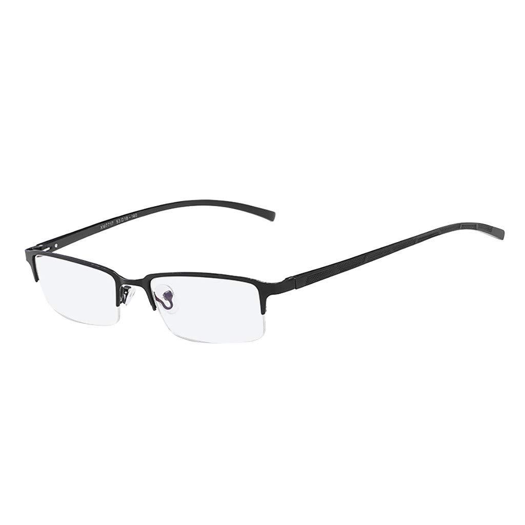 5d15e0385b Amazon.com  Pinleg Eyeglasses Unisex Stylish Square Non-prescription  Glasses Clear Lens Eyewear Metal Blue Film Glasses Half Frame Simple  Fashion Sunglasses ...