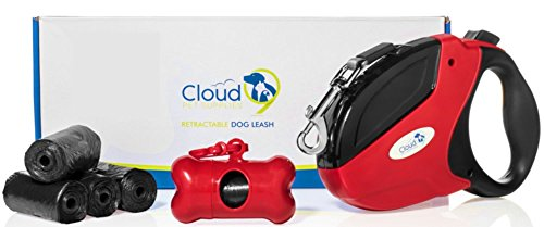 16ft Retractable Dog Leash with 5 Waste Bag - Authority Dog Roll