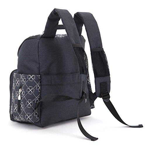 YuHan - Mochila con aislante para cochecito de bebé, tejido oxford, para llevar los pañales y cambiador negro negro negro
