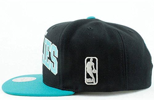 Vancouver Grizzlies Hat NBA Authentic Mitchell   Ness Team Arch 2Tone  Snapback Black Teal Basketball Cap 2ef6d35f0ef0