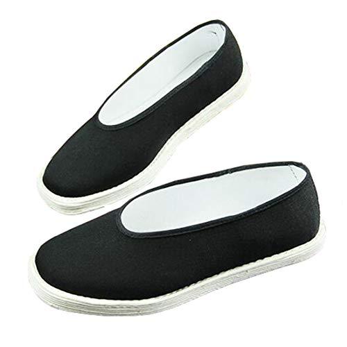 Ez-sofei Retro Chinese Traditional Costume Accessory Hanfu Cloth Shoes Black (38, Black(White Sole)) from Ez-sofei