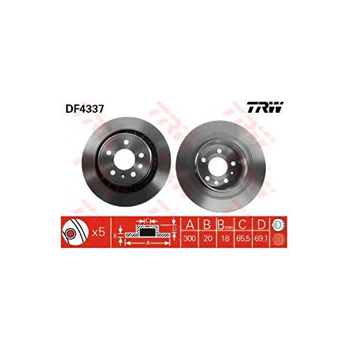 Genuine TRW Vented Brake Discs - Part Number DF4337: