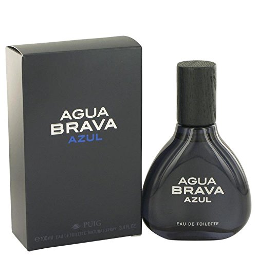 Agua Brava Azul by Antonio Puig Eau De Toilette Spray 3.4 oz for Men - 100% - Agua Spray Brava