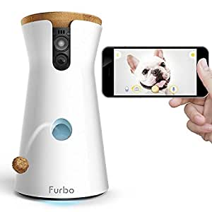 Furbo Dog Camera: Treat Tossing, HD Wifi Pet Cam, and 2-Way Audio, Compatible with Amazon Alexa