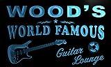 pf1078-b Wood's Guitar Lounge Beer Bar Pub Room Neon Light Sign