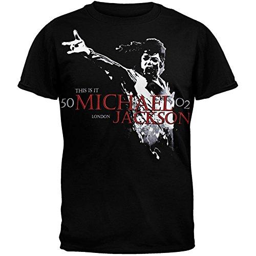 Michael Jackson - Mens Scream T-shirt Small Black (Jackson Youth T-shirt)