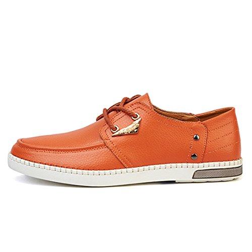 Minishion Ragazzi Mens Moda Sneakers Cucite Quotidianamente Arancione