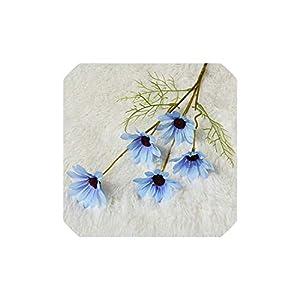 Smileshop01 2PCS Gesang Artificial Flower Home Christmas Wedding Decor Wedding Flower Wall Fake Flower Bouquet Daisy,F 32