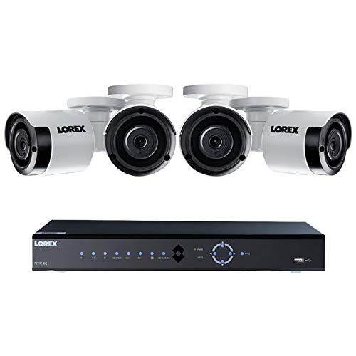 - Lorex 8 Channel 4K NVR Security System, 2TB, 4 Color Night Vision Cameras