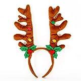 uheng cute santa hats christmas hats christmas reindeer costume headbands antlers headwear for